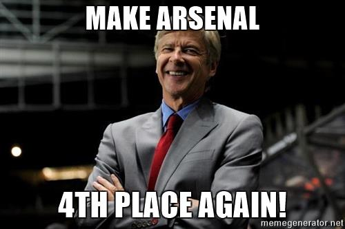 Arsenal 4th